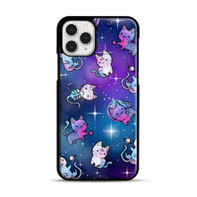 Load image into Gallery viewer, Space Kitties 1 iPhone 11 Pro Case, Black Rubber Case | Webluence.com
