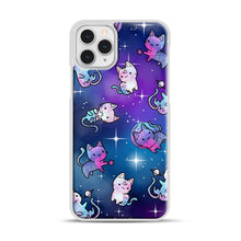 Load image into Gallery viewer, Space Kitties 1 iPhone 11 Pro Case, White Rubber Case | Webluence.com