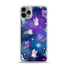 Load image into Gallery viewer, Space Kitties 1 iPhone 11 Pro Max Case.jpg, White Plastic Case | Webluence.com