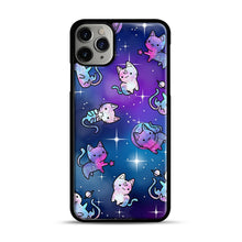 Load image into Gallery viewer, Space Kitties 1 iPhone 11 Pro Max Case.jpg, Black Plastic Case | Webluence.com