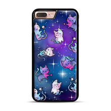 Load image into Gallery viewer, Space Kitties 1 iPhone 7 Plus/8 Plus Case, Black Rubber Case | Webluence.com