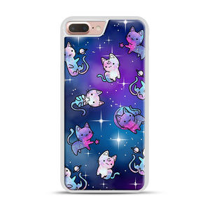 Space Kitties 1 iPhone 7 Plus/8 Plus Case, White Rubber Case | Webluence.com