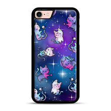 Load image into Gallery viewer, Space Kitties 1 iPhone 7/8 Case.jpg, Black Rubber Case | Webluence.com