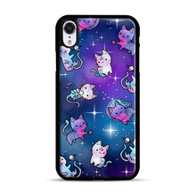 Load image into Gallery viewer, Space Kitties 1 iPhone XR Case, Black Rubber Case | Webluence.com