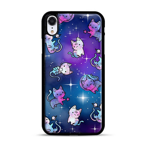 Space Kitties 1 iPhone XR Case, Black Rubber Case | Webluence.com