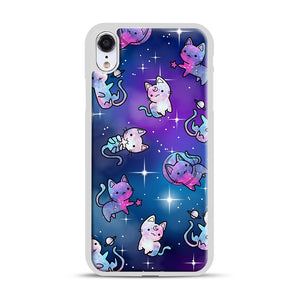 Space Kitties 1 iPhone XR Case, White Rubber Case | Webluence.com