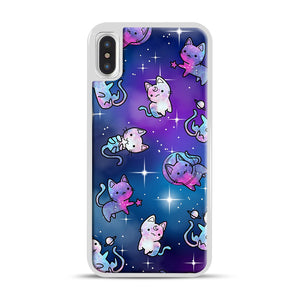 Space Kitties 1 iPhone X/XS Case, White Rubber Case | Webluence.com