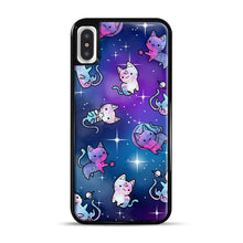 Load image into Gallery viewer, Space Kitties 1 iPhone X/XS Case, Black Rubber Case | Webluence.com