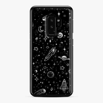 Space Samsung Galaxy S9 Plus Case, Black Plastic Case | Webluence.com