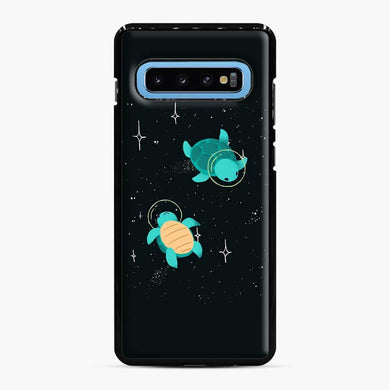 Space Turtles Samsung Galaxy S10 Case, Black Plastic Case | Webluence.com
