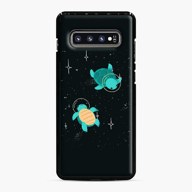 Space Turtles Samsung Galaxy S10 Plus Case, Black Plastic Case | Webluence.com
