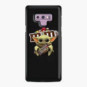 Star Wars Baby Yoda Hug M&M's Mandalorian Samsung Galaxy Note 9 Case, Black Plastic Case | Webluence.com