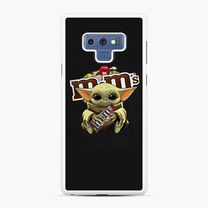 Star Wars Baby Yoda Hug M&M's Mandalorian Samsung Galaxy Note 9 Case, White Rubber Case | Webluence.com
