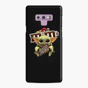 Star Wars Baby Yoda Hug M&M's Mandalorian Samsung Galaxy Note 9 Case, Snap Case | Webluence.com