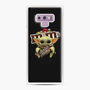 Star Wars Baby Yoda Hug M&M's Mandalorian Samsung Galaxy Note 9 Case, White Plastic Case | Webluence.com