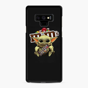 Star Wars Baby Yoda Hug M&M's Mandalorian Samsung Galaxy Note 9 Case, Black Rubber Case | Webluence.com