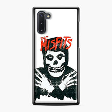 Load image into Gallery viewer, Summer Misfits Skull Samsung Galaxy Note 10 Case, Black Plastic Case | Webluence.com