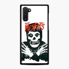 Load image into Gallery viewer, Summer Misfits Skull Samsung Galaxy Note 10 Case, Black Rubber Case | Webluence.com