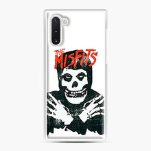 Load image into Gallery viewer, Summer Misfits Skull Samsung Galaxy Note 10 Case, White Plastic Case | Webluence.com