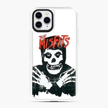 Load image into Gallery viewer, Summer Misfits Skull iPhone 11 Pro Case, White Plastic Case | Webluence.com