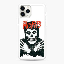 Load image into Gallery viewer, Summer Misfits Skull iPhone 11 Pro Case, White Rubber Case | Webluence.com