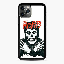 Load image into Gallery viewer, Summer Misfits Skull iPhone 11 Pro Case, Black Rubber Case | Webluence.com