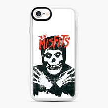 Load image into Gallery viewer, Summer Misfits Skull iPhone 7/8 Case, White Rubber Case | Webluence.com