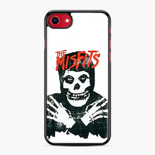 Load image into Gallery viewer, Summer Misfits Skull iPhone 7/8 Case, Black Plastic Case | Webluence.com