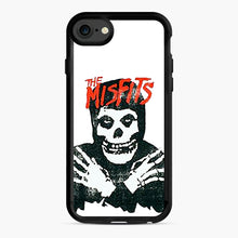 Load image into Gallery viewer, Summer Misfits Skull iPhone 7/8 Case, Black Rubber Case | Webluence.com