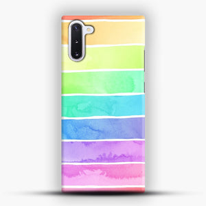 Summer Sorbet Rainbow Stripes Samsung Galaxy Note 10 Case, Snap Case | Webluence.com