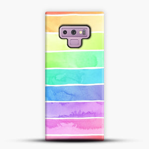 Summer Sorbet Rainbow Stripes Samsung Galaxy Note 9 Case, Snap Case | Webluence.com