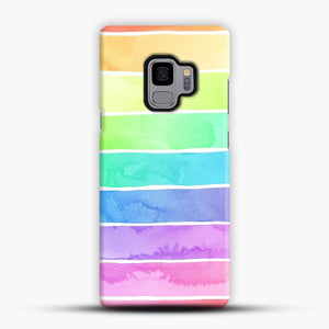 Summer Sorbet Rainbow Stripes Samsung Galaxy S9 Case, Snap Case | Webluence.com