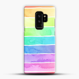 Summer Sorbet Rainbow Stripes Samsung Galaxy S9 Plus Case, Snap Case | Webluence.com