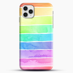 Summer Sorbet Rainbow Stripes iPhone 11 Pro Case, Snap Case | Webluence.com