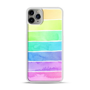 Summer Sorbet Rainbow Stripes iPhone 11 Pro Max Case