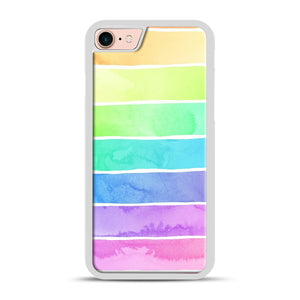 Summer Sorbet Rainbow Stripes iPhone 7/8 Case.jpg, White Plastic Case | Webluence.com