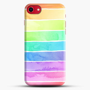 Summer Sorbet Rainbow Stripes iPhone 7/8 Case.jpg, Snap Case | Webluence.com