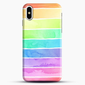 Summer Sorbet Rainbow Stripes iPhone X/XS Case, Snap Case | Webluence.com