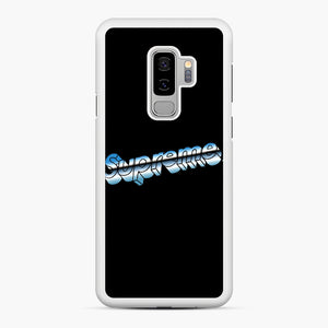 Supreme Chrome Logo Samsung Galaxy S9 Plus Case, White Rubber Case | Webluence.com