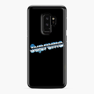 Supreme Chrome Logo Samsung Galaxy S9 Plus Case, Black Plastic Case | Webluence.com