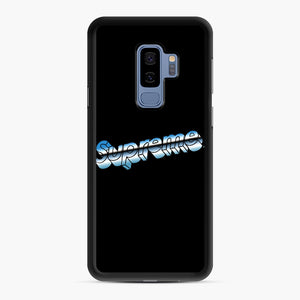 Supreme Chrome Logo Samsung Galaxy S9 Plus Case, Black Rubber Case | Webluence.com