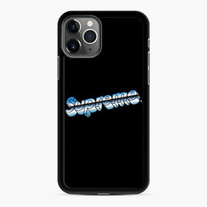 Supreme Chrome Logo iPhone 11 Pro Case, Black Rubber Case | Webluence.com