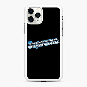 Supreme Chrome Logo iPhone 11 Pro Case, White Rubber Case | Webluence.com