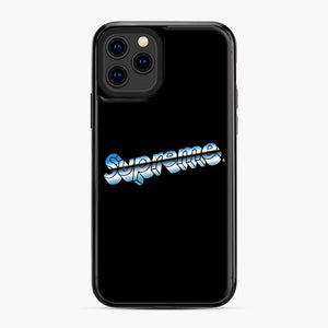 Supreme Chrome Logo iPhone 11 Pro Case, Black Plastic Case | Webluence.com