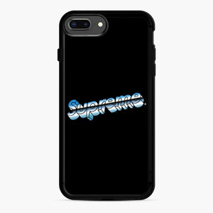 Supreme Chrome Logo iPhone 7,8 Plus Case, Black Rubber Case | Webluence.com