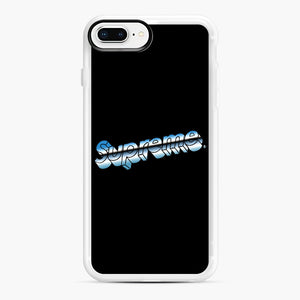 Supreme Chrome Logo iPhone 7,8 Plus Case, White Rubber Case | Webluence.com