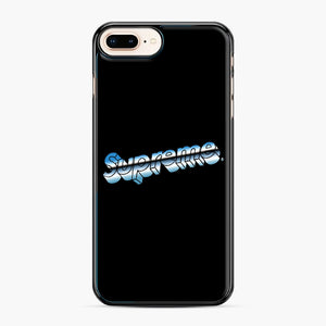Supreme Chrome Logo iPhone 7,8 Plus Case, Black Plastic Case | Webluence.com