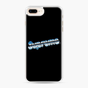 Supreme Chrome Logo iPhone 7,8 Plus Case, White Plastic Case | Webluence.com