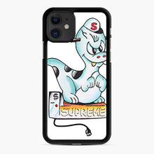 Load image into Gallery viewer, Supreme Dinosaur Tee Royal iPhone 11 Case, Black Rubber Case | Webluence.com