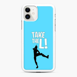 Take The L Fortnite 3 iPhone 11 Case, White Rubber Case
